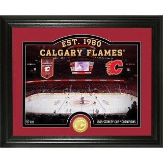 """Calgary Flames """"Rink"""" Bronze Coin Photo Mint - Multi"""