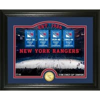 "New York Rangers ""Rink"" Bronze Coin Photo Mint - Multi"