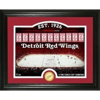 "Detroit Red Wings ""Rink"" Bronze Coin Photo Mint - Multi"