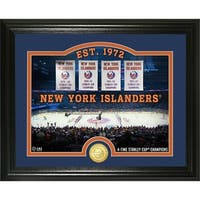 "New York Islanders ""Rink"" Bronze Coin Photo Mint - Multi"