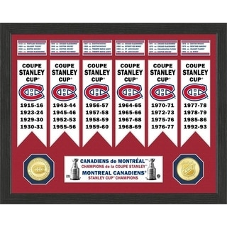 Montreal Canadiens Stanley Cup Banner Collection Photo Mint - Multi