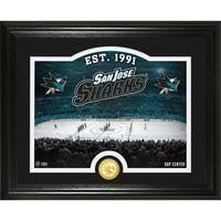 "San Jose Sharks ""Rink"" Bronze Coin Photo Mint - Multi"
