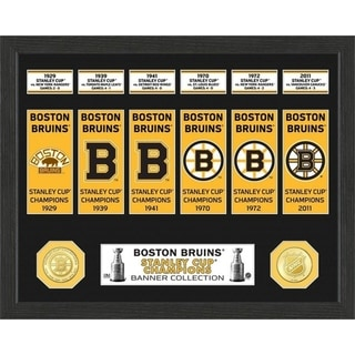 Boston Bruins Stanley Cup Banner Collection Photo Mint - Multi