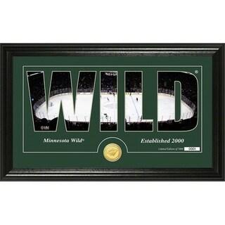 "Minnesota Wild ""Silhouette"" Bronze Coin Panoramic Photo Mint - Multi"