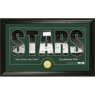"Dallas Stars ""Silhouette"" Bronze Coin Panoramic Photo Mint - Multi"