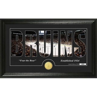 "Boston Bruins ""Silhouette"" Bronze Coin Panoramic Photo Mint - Multi"