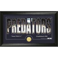 "Nashville Predators ""Silhouette"" Bronze Coin Panoramic Photo Mint - Multi"