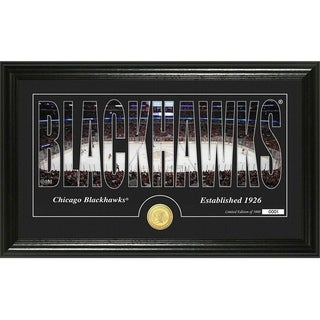 "Chicago Blackhawks ""Silhouette"" Bronze Coin Panoramic Photo Mint - Multi"