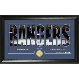 "New York Rangers ""Silhouette"" Bronze Coin Panoramic Photo Mint - Multi"