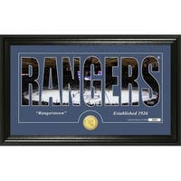 "New York Rangers ""Silhouette"" Bronze Coin Panoramic Photo Mint - Multi"