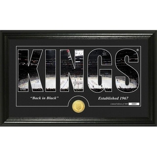 "Los Angeles Kings ""Silhouette"" Bronze Coin Panoramic Photo Mint - Multi"