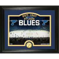 "St. Louis Blues ""Rink"" Bronze Coin Photo Mint - Multi"