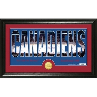 "Montreal Canadiens ""Silhouette"" Bronze Coin Photo Mint - Multi"