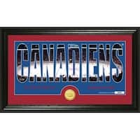 """Montreal Canadiens """"Silhouette"""" Bronze Coin Photo Mint - Multi"""