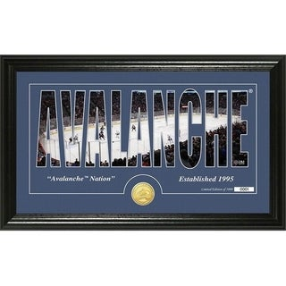 "Colorado Avalanche ""Silhouette"" Bronze Coin Panoramic Photo Mint - Multi"