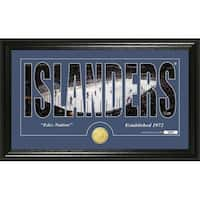 "New York Islanders ""Silhouette"" Bronze Coin Panoramic Photo Mint - Multi"