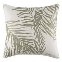Tommy Bahama Palms Away Leaf Embroidery Throw Pillow