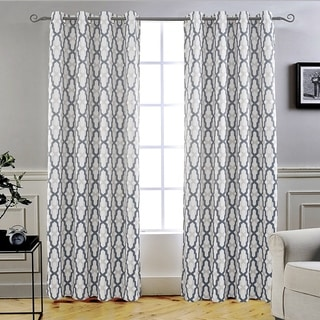 Link to DriftAway Mason/Geo Thermal Insulated Blackout Grommet Window Curtain Panel Pair Similar Items in Window Treatments