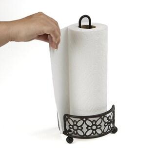 Mind Reader Free Standing Metal Paper Towel Holder