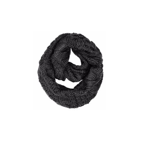 Peach Couture Cable Knit Winter Loop Scarf