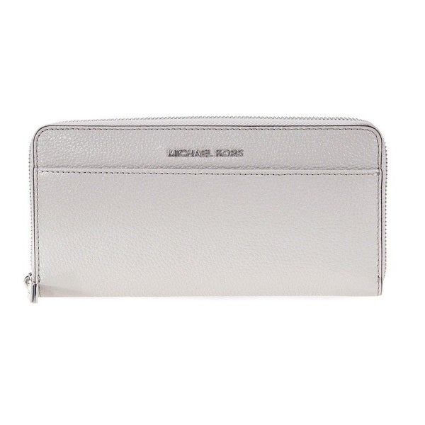 c0aefab3eae6 Shop Michael Kors Adele Pearl Grey Double-Zip Crossbody Handbag ...