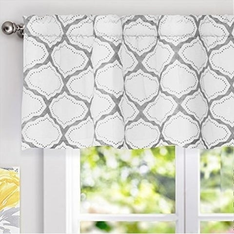 DriftAway Geo Trellis Window Curtain Valance