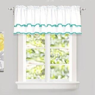 DriftAway Pom Pom Ruffle Window Curtain Valance (2 options available)
