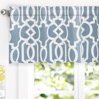 "DriftAway Abigail Trellis Window Curtain Valance, Rod Pocket, 52""x18"""