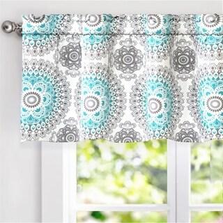 "DriftAway Bella Medallion Window Curtain Valance, 52"" wide x 18"" long"