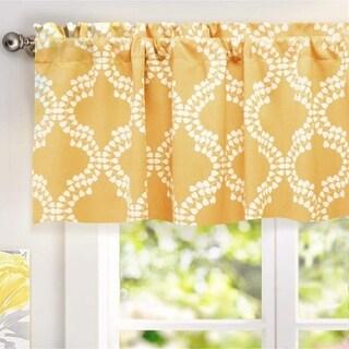 "DriftAway Julianna Geo/Leaf Window Curtain Valance,52"" wide x 18"" long"