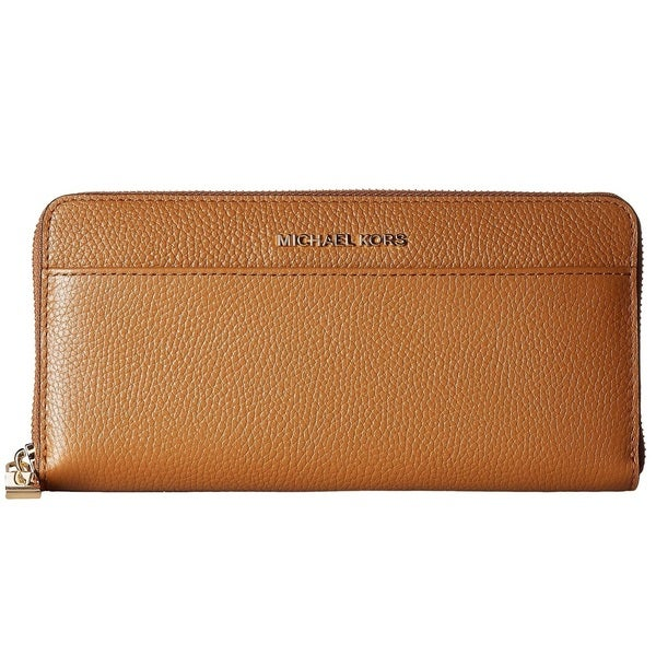 2577f24a9158 Shop Michael Kors Mercer Zip-Around Continental Acorn Wallet - Free ...
