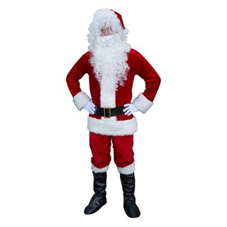 ALEKO Christmas Santa Claus Full Costume With Beard and Wig