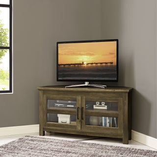 Pine Canopy Solidago 44-inch Corner Wood TV Stand