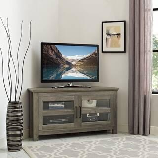 44 Inch Corner Wood TV Stand