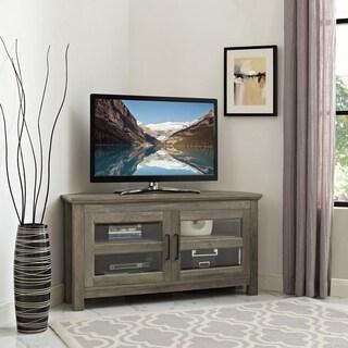 Pine Canopy Solidago 44 Inch Corner Wood TV Stand