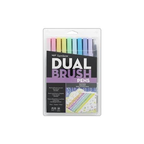 Tombow Dual Brush Pen Set Pastel 10pc