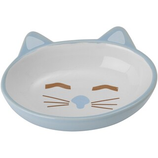 PetRageous Sleepy Kitty Oval Saucer 5.3oz