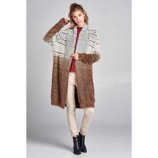 Spicy Mix Brynn Soft Metallic Eyelash Jersey Cardigan Sweater