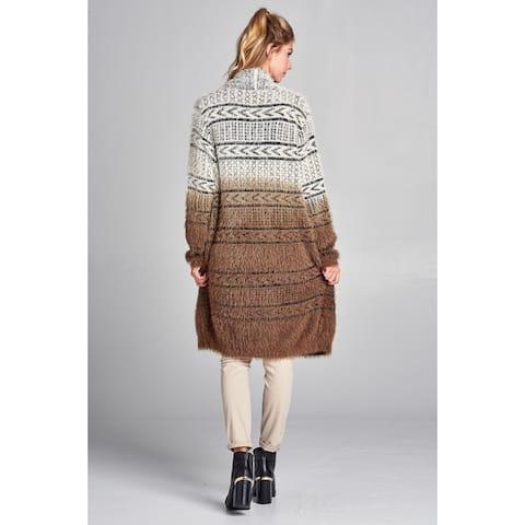Spicy Mix Brynn Soft Metallic Eyelash Jersey Cardigan Sweater