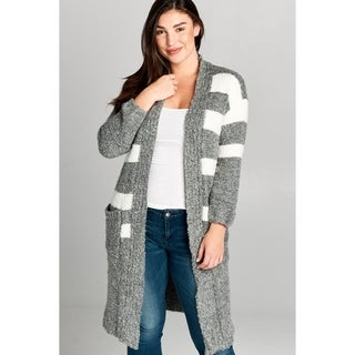 Spicy Mix Layla Knotted Wool Striped Cardigan Swreater (More options available)
