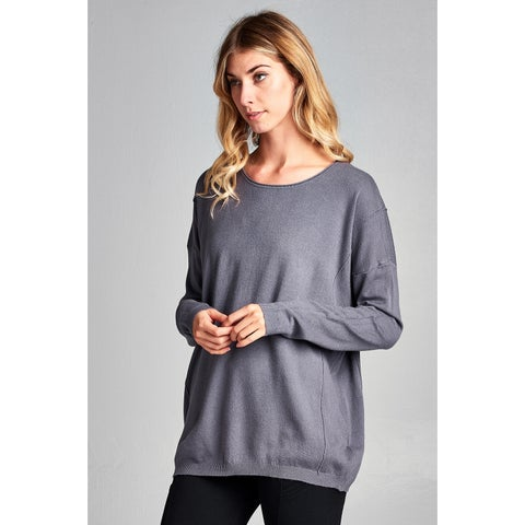 Spicy Mix Bella Relaxed Fit Long Sleeved Sweater