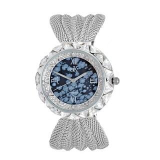 Adee Kaye Stone Accented Austrian Crystal Watch-Snowflake