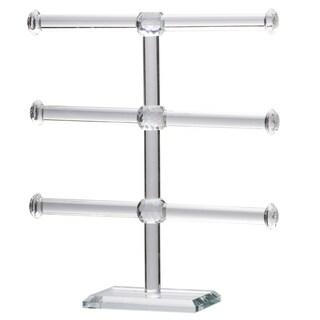 """Mayfair 3-Tier Glass Jewelry Rack, 10x3x11"""""""