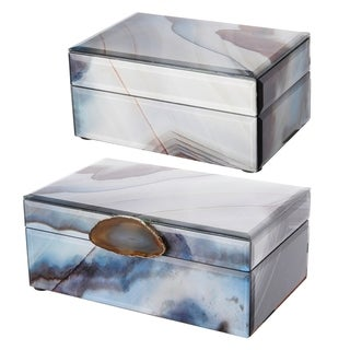 Lone Gray and Blue Jewelry Boxes (Set of 2)