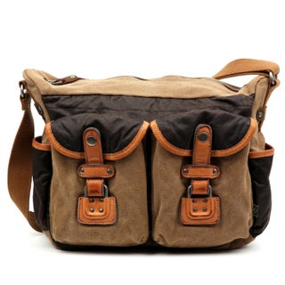 TSD Brand Tapa Two-Tone Canvas Mail Bag (2 options available)