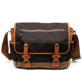 TSD Brand Tapa Two-Tone Canvas Messenger Bag (2 options available)