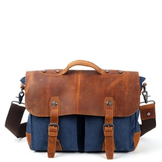 TSD Brand Hudson Canvas Messenger Bag (4 options available)