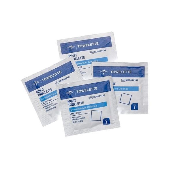 Medline Benzalkonium Chloride Towelettes (Case of 1 000)