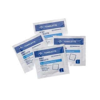Medline Benzalkonium Chloride Towelettes (Case of 1 000)