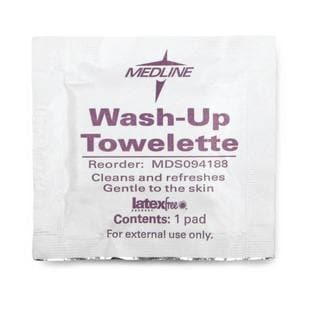 Medline Wash-Up Cleansing Towelettes (Case of 1000)